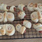【おうちパン講座144】ニコニコキッズ活動『ちょうちょパン・いもむしウインナーロール』『ねじねじハートパン』ご家族で楽しむおうちパン