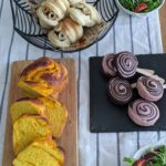 【おうちパン講座148】かぼちゃのツイスト食パン・うずまき2色パン おうちパンでハロウィンパーティー♪♪